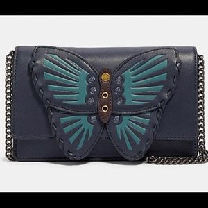 Coach Flap Belt Bag With Butterfly Applique